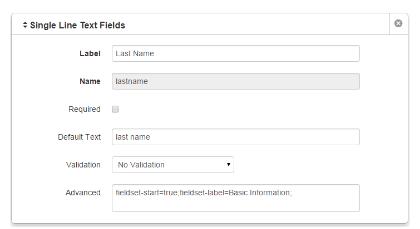 Form Elements, Advanced Field in Form Builder – Web & Digital Help