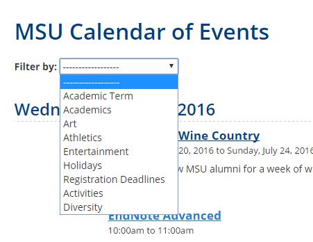 Msu Academic Calendar.Creating A Cope Calendar Event What Is A Tag Web Digital Help